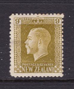 New Zealand a MH KGV 9d olive green