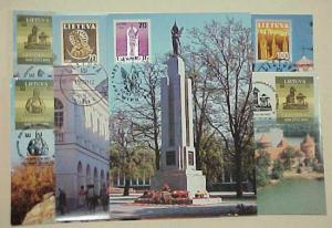 LITHUANIA  6 DIFF. MAXI CARDS 1991