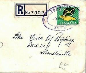 Jamaica *PENWOOD* TRD Registered Cover 1966 RELIGION RADIO{samwells-covers} CS14