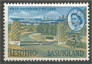 BASUTOLAND  1965 used 3 1/2c Maseru border post  Scott #98