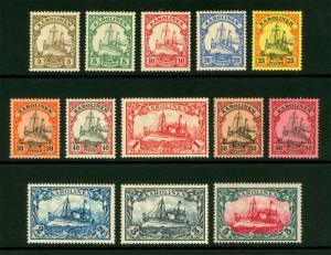 German Colonies - CAROLINE ISLANDS 1901  Kaiser's YACHT set  Sc# 7-19  mint MH