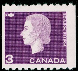 CANADA SG532a, 3c reddish violet, LH MINT. PERF 9½ x IMPERF