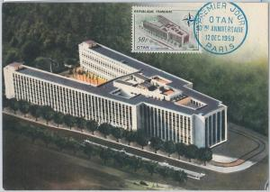 56904  -   FRANCE -  POSTAL HISTORY - MAXIMUM CARD: 1959  OTAN  NATO