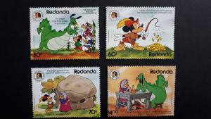 Disney - Redonda 1985. - Brothers Grimm ** MNH complete set