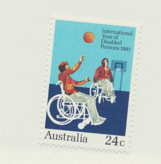 Australia Scott #810, Mint Never Hinged MNH, International Year of Disabled P...