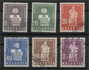 SWITZERLAND, BIE OFFICIALS 1958VFU SET