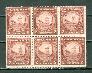 CANADA 1934 NEW BRUNSWICK #210 BLK of 6 MNH...$27.00