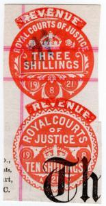 (I.B) George V Revenue : Royal Courts of Justice 13/- (Revenue)
