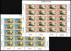 FAROE 1995 EUROPA: Peace and Freedom. Mythology. 2 MINI-SHEETS = 20 sets, MNH
