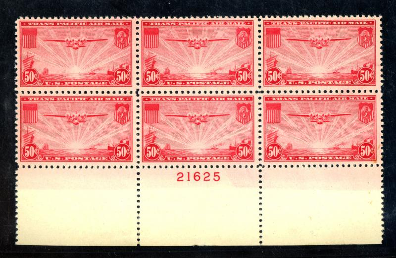 C22 MINT Plate Block F-VF OG NH Minor Separation Cat$85