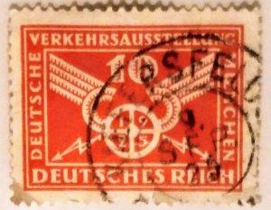 Germany 369 1925 traffick Exhibition 100pfg used XF CV $13.35