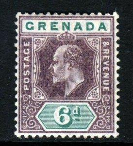 GRENADA King Edward VII 1906 6d. Purple & Green Wmk Mult Crown CA SG 72 MINT