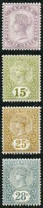 Ceylon SG195/9 1886 Set of 4 wmk Crown CA M/Mint