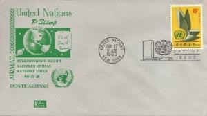 UN #C9 8c AIR MAIL FDC 1963 - Kolor Kover