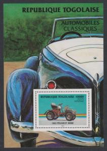 Togo Peugeot Bebe Classic Cars MS SG#MS1742