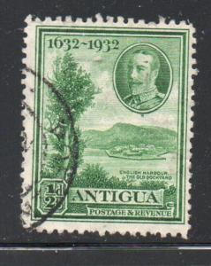 Antigua Sc 67 1932 1/2d green Old Dockyard at English Harbour  stamp used