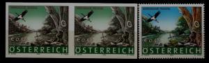 Austria 1907 MNH pair Birds, error