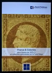Auction catalogue FRANCE & COLONIES Guerre 187-71 + Type Siege Stamps Covers