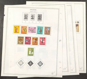 EDW1949SELL : SINGAPORE Nice collection of ALL DIFF. VF MOG Cplt sets. Cat $435.