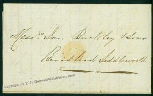 Pernambuco Brazil 1850 England Transatlantic Mail Cover 75983