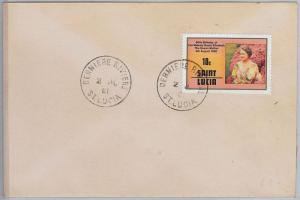 ST LUCIA -  POSTAL HISTORY - COVER with nice postmark: DERNIER RIVIERE 1981