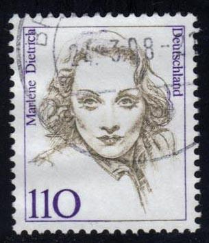 Germany #1727 Marlene Dietrich; Used at Wholesale
