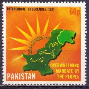 Pakistan. 1985. 650. Kashmir referendum. MNH.
