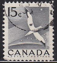 Canada 343 Hinged Used 1954 Gannet