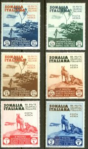 Somalia Sc# C1-C6 MH 1934 Air Post set/6