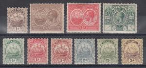 Bermuda Sc 40/89 MLH. 1912-1936 issues, 10 different singles, F-VF