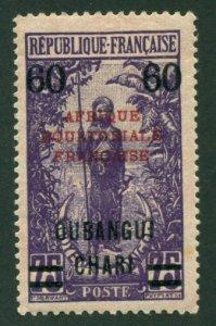Ubangi-Shari 1924 #59 MH SCV (2018) = $0.70