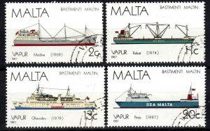 Malta #703-6  F-VF Used CV $6.85  (X5726)