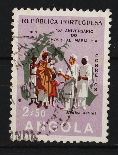 Angola 1958 75th Anniv of the Maria Pia Hospital 2$50 (1/3) USED