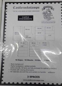 A) VARIO BRAND CASTLEROCKSTAMPS BLADES, WITH 10 BLADES, BLACK FOPNDO, EXTRA SECU