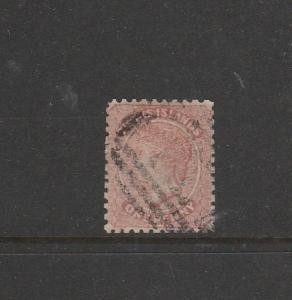 Turks islands 1867 1d Dull rose  Used, full perfs SG 1
