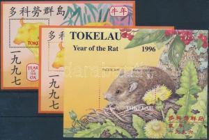 Tokelau Islands stamp 1996-1997 3 blocks 1996 MNH Mi 7, 10 WS178871