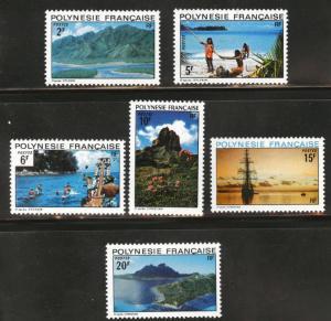 French Polynesia Scott 278-283 MNH** 1974 set CV$14.50
