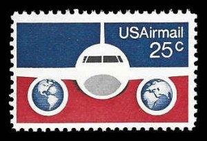 PCBstamps   C89 25c Plane & Globes, MNH, (21)