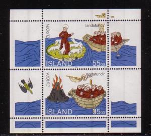 Iceland Sc 781a 1994 Europa St Brendan stamp sheet mint NH