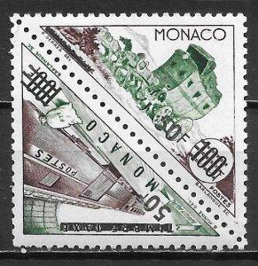 Monaco 380a 50fr Transportation surcharge pair MNH (z2)