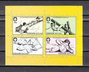 Davaar Is. 1982 Local issue. 75th Anniversary of Scouting sheet. ^