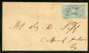 CONFEDERATE  STATES OF AMERICA  SCOTT##6 PAIR USED ON COVER