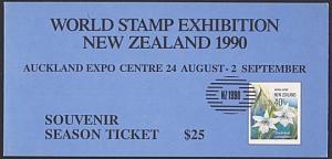 NEW ZEALAND 1990 ORCHIDS IMPERF SOUVENIR SHEET MNH ACS cat NZ$100.........87748A