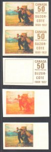 Canada #492 XF Trial Color Plate proof set of 7 C$1500.00