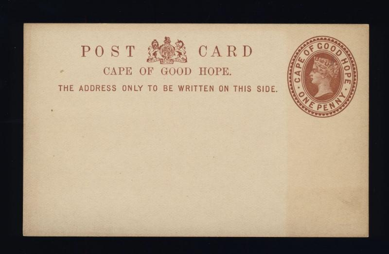 CAPE OF GOOD HOPE - 1882 - 1d POSTAL CARD FINE MINT - (a)