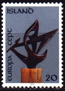 Iceland. 1974. 490 from the series. Sculpture, europe-sept. MNH.