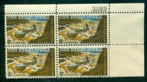 US #1374, 6¢ Powell 'TAGGING SHIFT' Error in Plate No. Block of 4, og, NH, VF