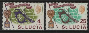 ST. LUCIA, 207-208, MNH, 1966, World cup soccer issue