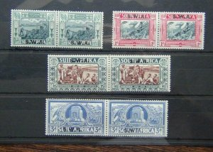South West Africa 1938 Voortrekker Centenary Memorial Fund set MM SG105 - SG108