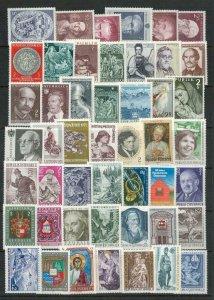 Austria MNH Stamps. Cat app £50. Mixed dates 1960's - 1970's etc